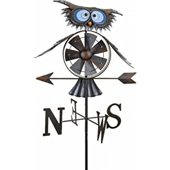 Girouette moulin à vent Hibou + mat