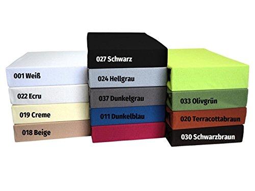 TM MAXX Laken Spannbettlaken Spannbetttuch Tuch Jersey Bettlaken • 100% Baumwolle • 11 Farben und 6 große Größen zur Auswahl • Versandfrei