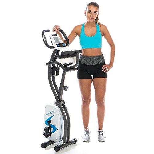 skandika Foldaway X-2000 Fitnessbike zusammenklappbar mit Bluetooth, Tablet Halterung, Rückenlehne, Multifunktionscomputer, Handpulssensoren und 16-stufiger, computergesteuerter Widerstand - 4