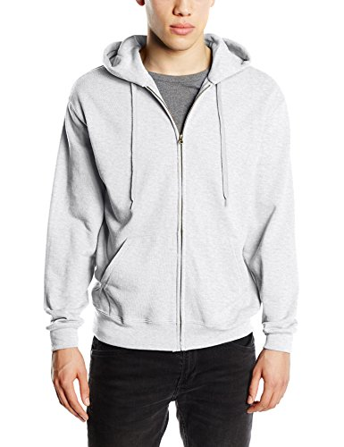 Fruit of the Loom Men's Zip Hooded Sweatshirt Plain Long Sleeve Hoodie