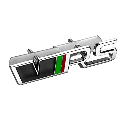 Vvciic 3D Metall VRS RS Grille-Emblem-Aufkleber Auto Abzeichen Fâ¨Â¹r Skoda Fabia Octavia MK2 Space Super Fast Yeti Ster