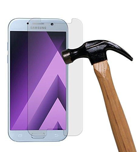 Preisvergleich Produktbild (2 Pack)Samsung Galaxy A7 (2017) Panzerglas - EUGO 9H Gehärtetem Glas Schutzfolie Displayschutzfolie Panzerglas für Samsung Galaxy A7 (2017)