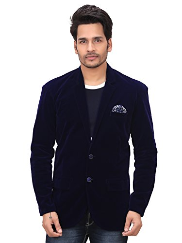 Garun-Party-Wear-Velvet-Dark-Blue-Blazer