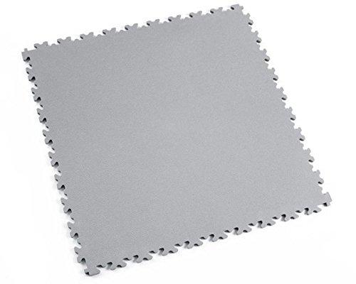 Fortelock® Vinylfliese 2020 (Leder) - Hohe Belastbarkeit (Industrie-Anwendung) (Grau)