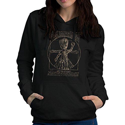 Guardians Of The Galaxy Vitruvian Groot Women's Hooded Sweatshirt