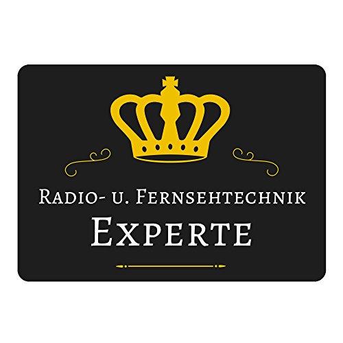Mousepad Radio- u. Fernsehtechnik Experte schwarz