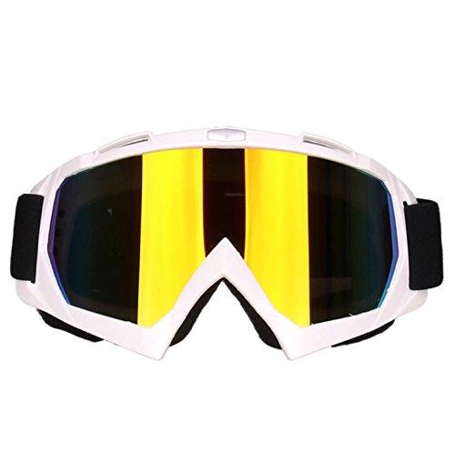 Motocross-Brille Anti-Sand-Brille Anti-Impact Ski Brille Klettern Spiegel , white 2