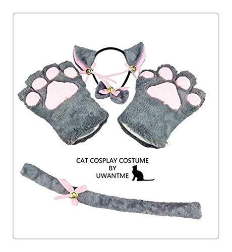 Neko Maid Kostüm - Z-one 1 4-teiliges Katzen-Stirnband Plüsch Cosplay
