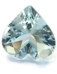 [Sponsored Products]1.47 Cts. 100% NATURAL AFRICAN AQUAMARINE HEART SHAPE CUT LOOSE GEMSTONE