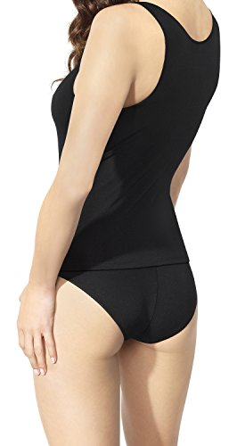 Body Classico in Morbido Cotone Top Tshirt da Donna Visone
