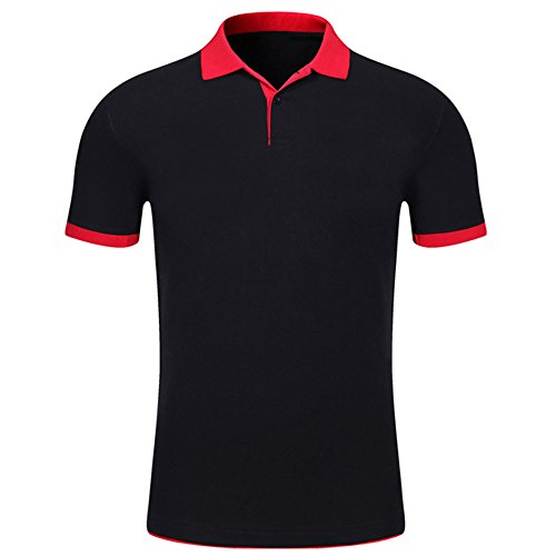Ulanda-EU Mens T-Shirts Summer Short Sleeve Business Polo Tops Casual Formal Regular Fit Cotton Polo Blouse for Mens Shirts Clothes Clearance