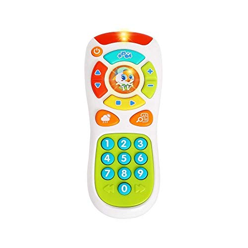 VATOS Control Remoto para Bebés Juguetes de Aprendizaje Luces Remotas para Bebés 6 Meses + Hacer Clic y Contar Juguetes Remotos para un año de Edad Regalo para niña (Solo Eonglish Pronuncia)