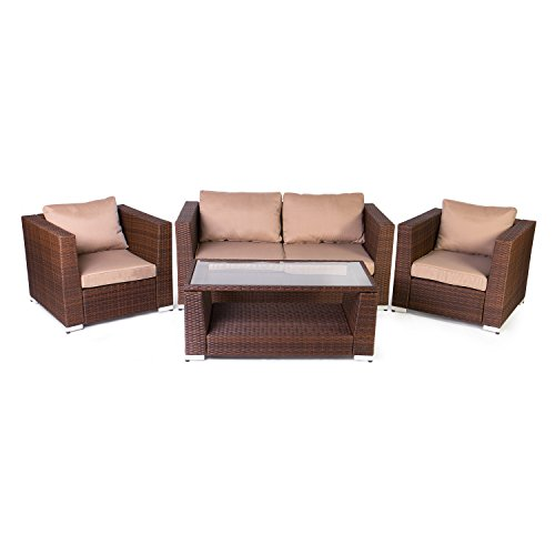 Gartengarnitur Chill & Lounge braun
