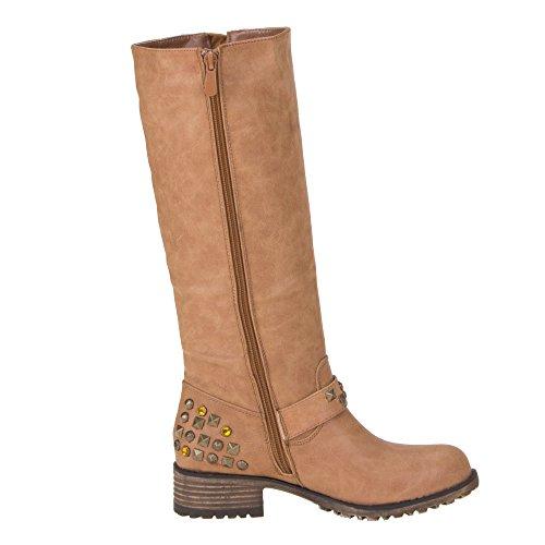 Chaussures pour 3014–1 oui, bottes femme Beige - Camel