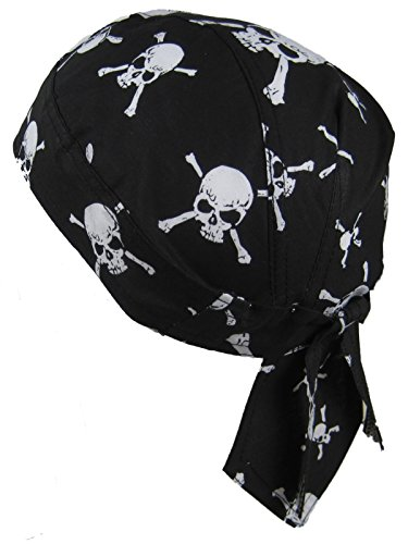 White Skulls on Black (Piraten-schädel)