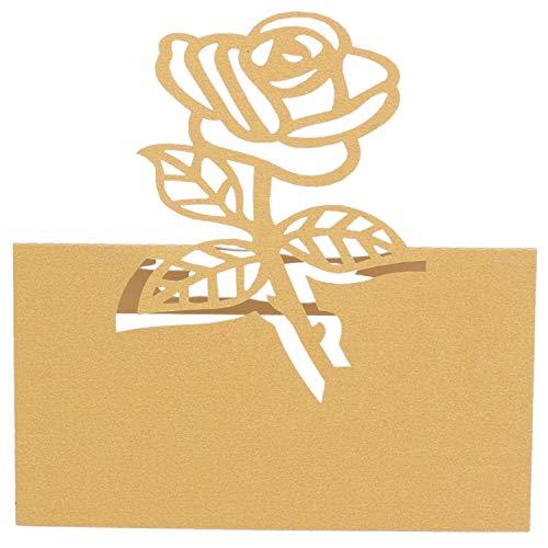 Gaoominy 60x Rose Papier Hochzeit Tisch Nummern Tisch Karte Begleiten Namen Karten FüR Hochzeit Dekoration Gold