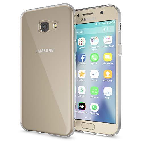 NALIA Handyhülle kompatibel mit Samsung Galaxy A5 2017, Slim Hülle Silikon Case Cover Crystal Clear Schutzhülle Dünn Durchsichtig, Etui Handy-Tasche Back-Cover Schutz Smart-Phone Bumper - Transparent