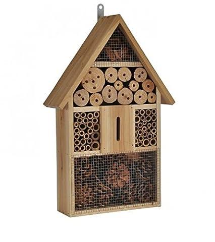 Maison Coccinelle - Hôtel à insecte XXl en Bois naturel
