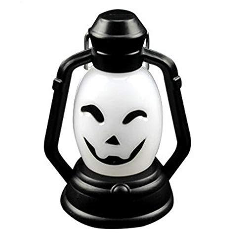WARM home Dekoration 1Watts Citrouille Neu Halloween Lumière Effrayante Horreur Coloré Flash-LED-Laterne-Brikett-Halloween-Deko (1 PCS) Tragbare Federung Geschenk Geben