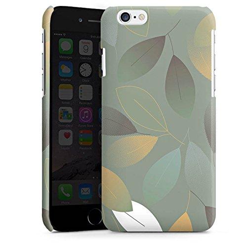 Apple iPhone 4 Housse Étui Silicone Coque Protection Automne Feuilles Vert Cas Premium brillant
