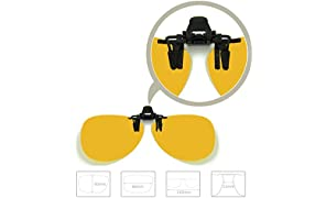 Enem Yellow Night Vision Polarized Clip-on Flip-up AVIATOR Driving Sunglasses