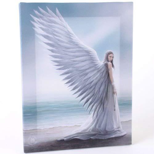 Fantastisches Anne Stokes Design – Spirit Guide Angel – Einen gotischen Geist-Führer-Engel eine Taste gedrückt halten und stehen am Strand – Leinwand Bild auf Bild-Wand-Plakette / Wand Kunst