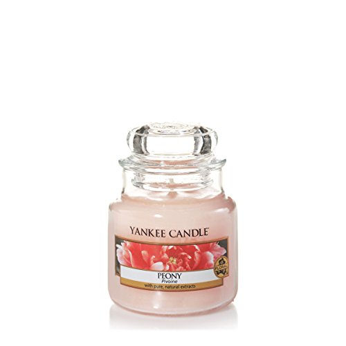 Yankee Candle bougie petite jarre, « Pivoine »