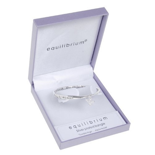 Equilibrium Silver Plated Bangle - Guardian Angel.. Stay by my side