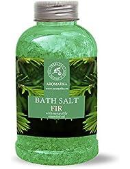Sels de bain épicéa, le sel de mer avec de l'huile essentielle naturelle d'aiguilles de pin de Sibérie 100 % naturelle...