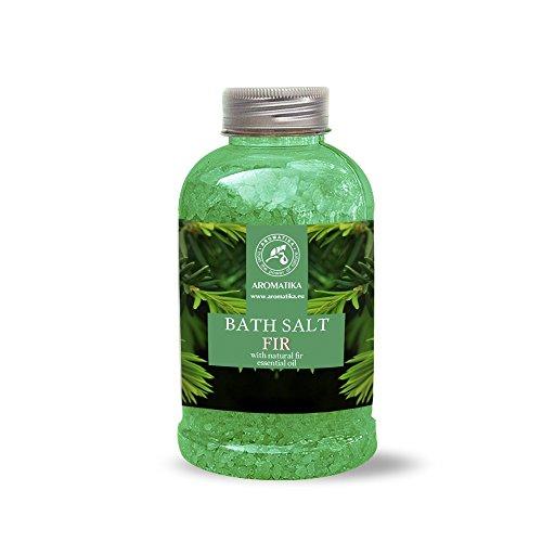 Badesalz Fichte, Meersalz mit natürlichem ätherischen sibirische Fichtennadelnöl, natur Bade-Salz am besten für guten Schlaf /Stressabbau / Beauty/ Baden /Körperpflege /Wellness /Schönheit /Entspannung / Aromatherapie/SPA, Badezusatz - 1er Pack (1 x 600 g), von AROMATIKA