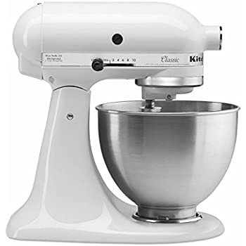 KitchenAid K45SS Classic Stand Mixer, White by Kitchen Aid