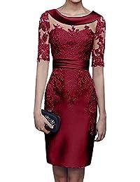 Suchergebnis auf f r rotes kleid kurz satin bekleidung - Rotes kleid amazon ...