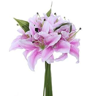 FS – Lily Artificial (32 cm, 11 Cabezas de Flores Grandes de 15,2 cm)