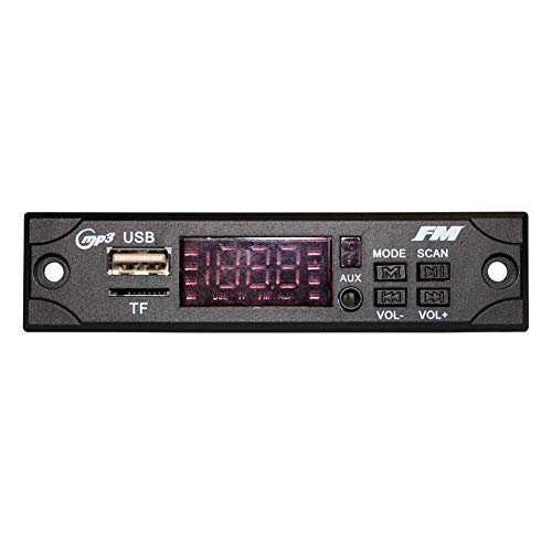 YSHtanj MP3 WMA Decoder-Board für Auto-Innenraum-Teile, DC 5 V, Bluetooth, MP3, WMA, FM, AUX, Decoder, Platte, Audio-Modul, Schwarz