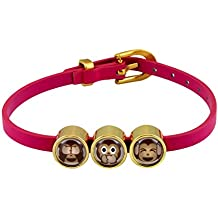 Charmojis bracelet motif Three apes in different colours