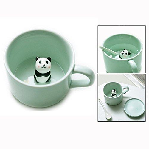Itian 3d caffè latte tè tazze in ceramica con panda per natale e compleanno