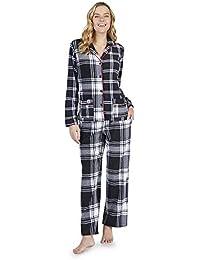DKNY Long Fleece Check Black Pyjama Set (2119328) 4a4ab33da