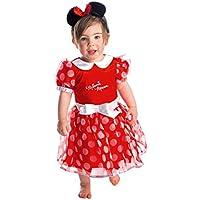 Disney - Disfraz Minnie, talla 12 a 18 meses, color rojo (Travis Designs DCMIN-DRR012)