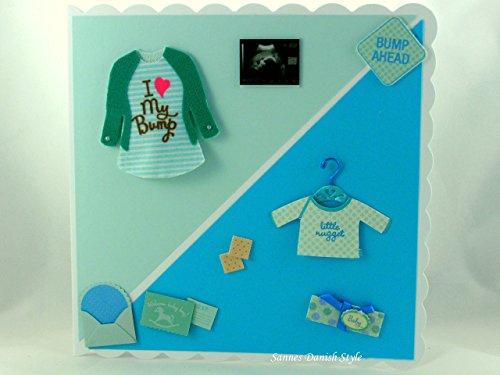 Grußkarte, Schwangerschaftskarte, Baby