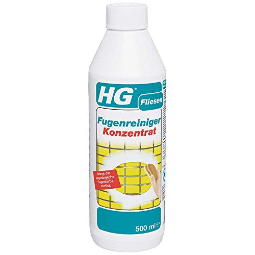 HG Fugenreiniger Konzentrat 500 ml - ein Fugenreiniger in konzentrierter Form für Fliesenfugen auf dem Boden, an den Wänden und im Badezimmer