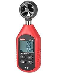 GuDoQi® Digital Anemometer LCD Anzeige Windgeschwindigkeit Temperaturmessung Windskala Anzeige