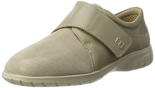 Fischer Damen Doris Slipper, Beige (Beige 888), 39 EU (Leder-stretch-slipper)
