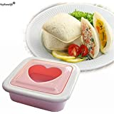Keythemelife Love Heart Shape Sandwich Mold Bread Toast Maker Mould Cutter Breakfast Kitchen Accessories Tools D0 - B07GRRR32S