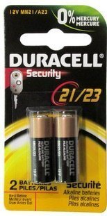 Duracell 12 Volt Alkaline Alarm Remote Battery MN21 / A23 2 Pack by Duracell Alkaline-alarm
