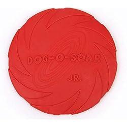 AOLVO - Disco Flotante de Goma Flotante para Perro, Frisbee, Discos de Golf, Disco, Disco, Cachorro, Frisbee, Masticar y Juguetes de Herradura, platillo Volador, Juguete Interactivo para Jugar