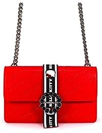 PINKO Accesorios de Mujer Bolso Love Bag Hello Kitty Cuero Rojo Primavera Verano 2018