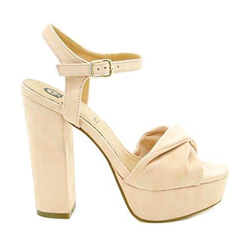 Toocool - Scarpe donna sandali camoscio sintetico tacchi alti Queen Helena nuove ZM25193 Rosa