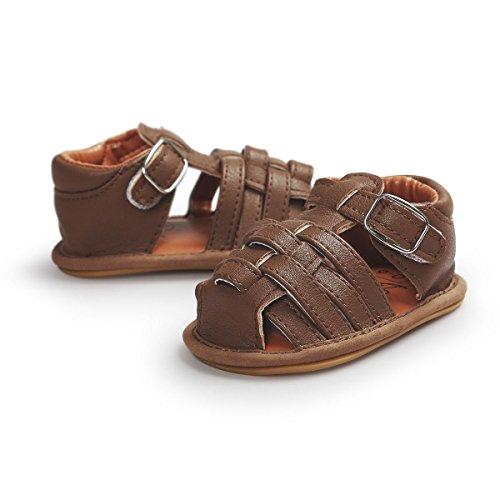 Itaar , {Chaussures premiers pas pour bébé (garçon) kaki 6-12 mois marron foncé