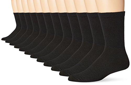 hanes-chaussettes-basses-homme-taille-unique-noir-large