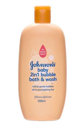 Johnson's Baby 2-in-1 Bubble Bath and Wash 2 x 500ml (1000ml Bath) by Johnson's Baby